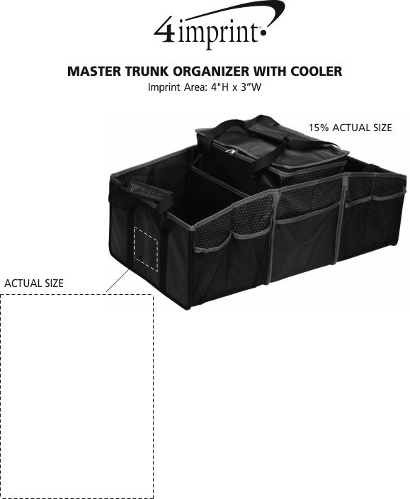 Imprint Area of Master Trunk Organizer with Cooler