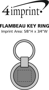 Imprint Area of Flambeau Key Ring