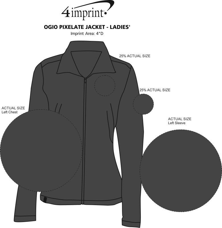 Imprint Area of OGIO Pixelate Jacket - Ladies'