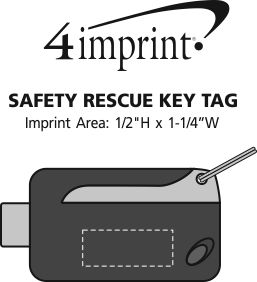 Imprint Area of Safety Rescue Keychain