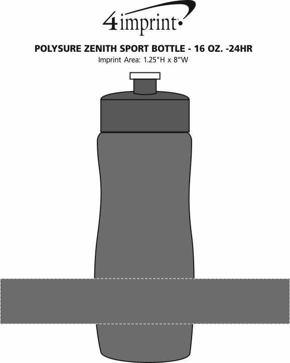 Imprint Area of Refresh Zenith Water Bottle - 16 oz. - 24 hr