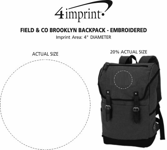 Imprint Area of Field & Co. Brooklyn Laptop Backpack - Embroidered