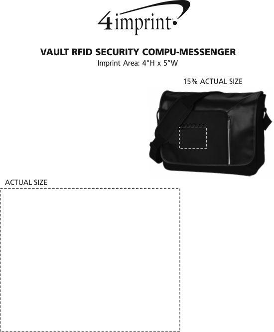 Imprint Area of Vault RFID Security Laptop Messenger