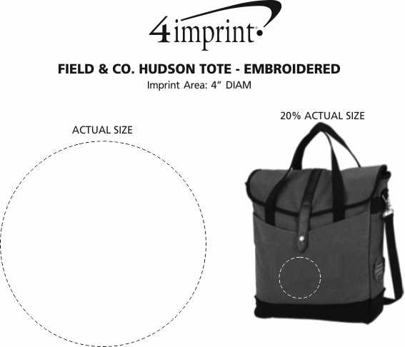 Imprint Area of Field & Co. Hudson Tote - Embroidered