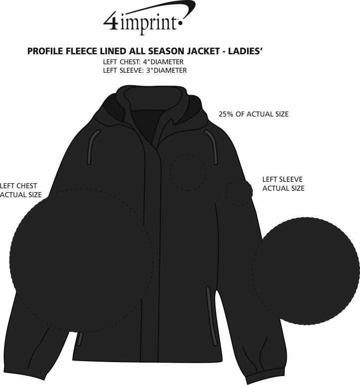 Imprint Area of Profile Fleece Lined All Season Jacket - Ladies'