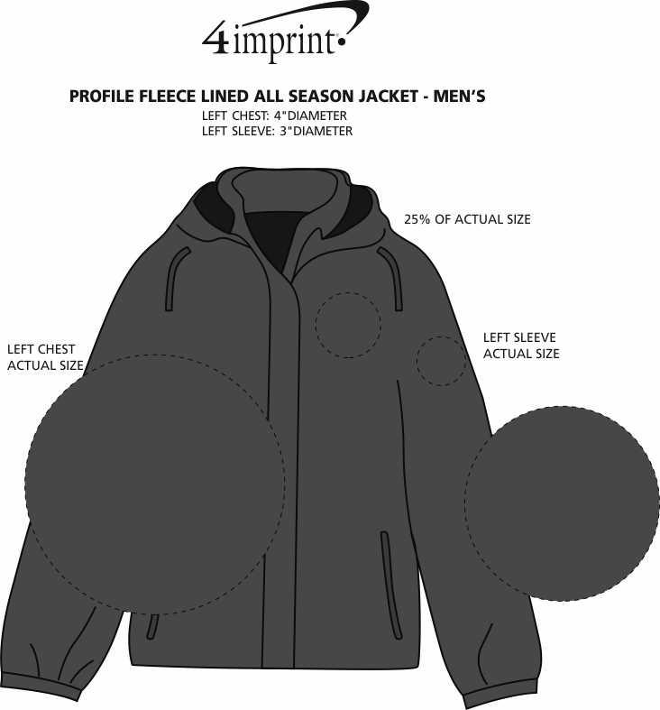 Imprint Area of Profile Fleece Lined All Season Jacket - Men's