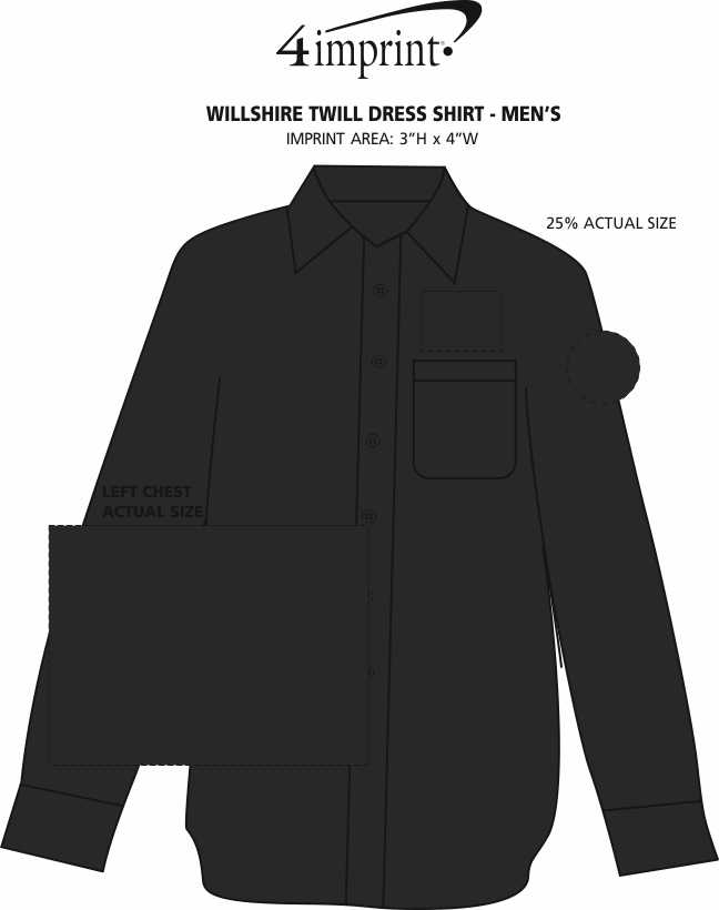 Imprint Area of Willshire Twill Dress Shirt - Men's