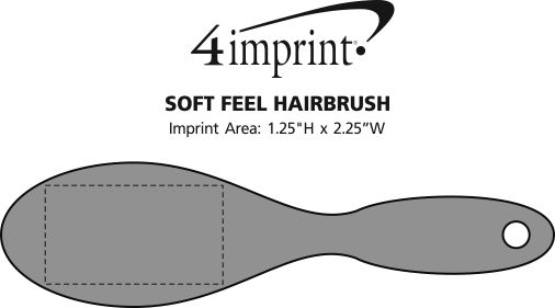 Imprint Area of Soft Feel Hairbrush