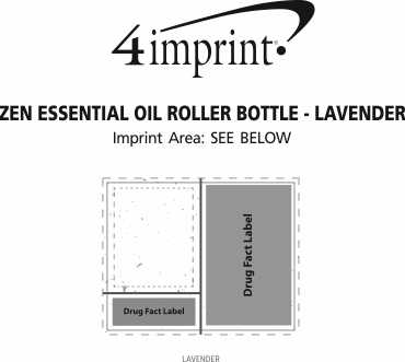 Imprint Area of Zen Essential Oil Roller Bottle - Lavender
