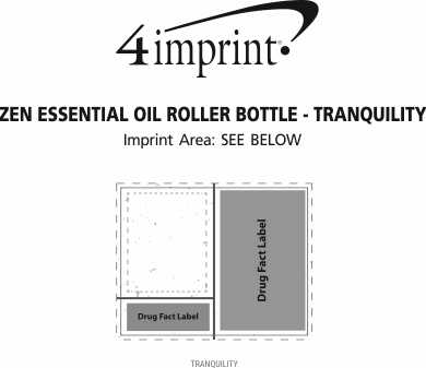 Imprint Area of Zen Essential Oil Roller Bottle - Tranquility