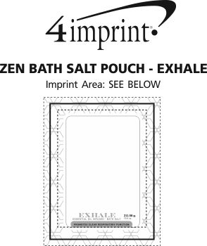Imprint Area of Zen Bath Salt Pouch - Exhale