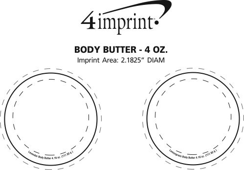 Imprint Area of Body Butter - 4 oz.
