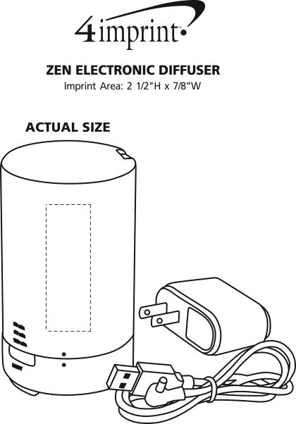 Imprint Area of Zen Electronic Diffuser