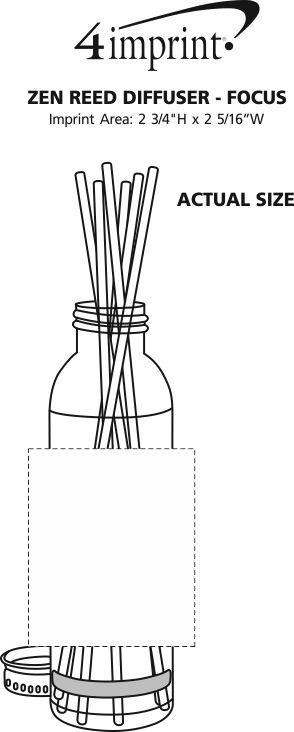 Imprint Area of Zen Reed Diffuser - Focus