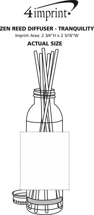 Imprint Area of Zen Reed Diffuser - Tranquility