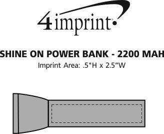 Imprint Area of Shine On Power Bank
