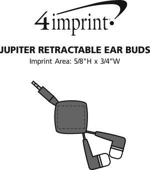 Imprint Area of Jupiter Retractable Ear Buds