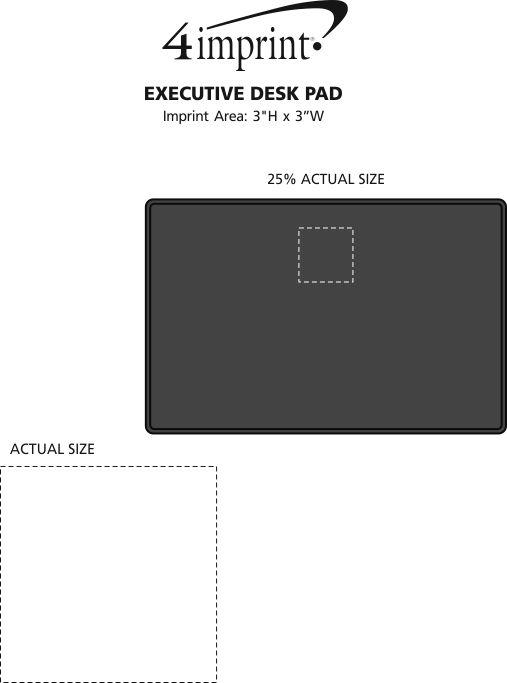 Imprint Area of Executive Desk Pad