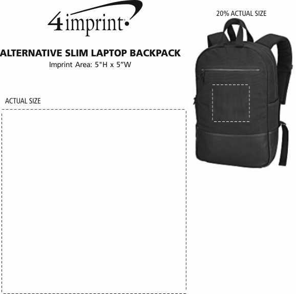 Imprint Area of Alternative Slim Laptop Backpack