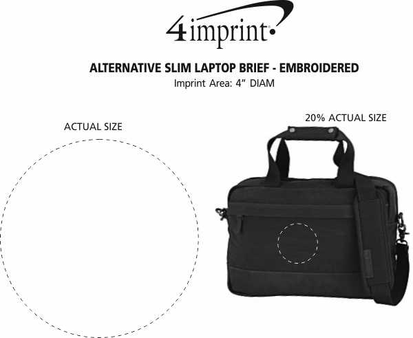 Imprint Area of Alternative Slim Laptop Brief - Embroidered