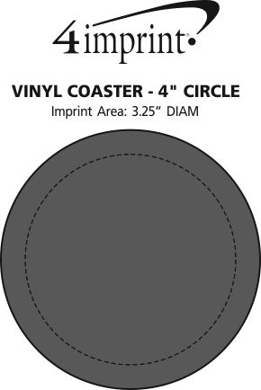"Imprint Area of Vinyl Coaster - 4"" Circle"