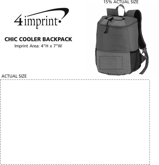 Imprint Area of Chic Cooler Backpack
