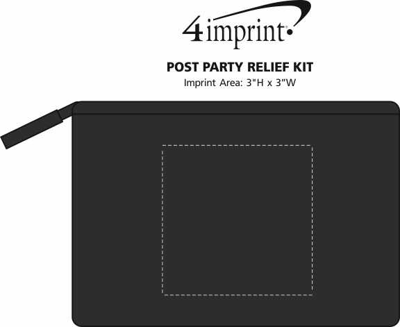 Imprint Area of Post Party Relief Kit