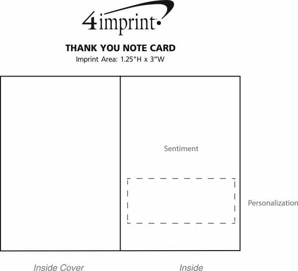 Imprint Area of Thank You Note Card