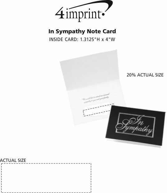 Imprint Area of In Sympathy Note Card