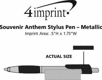 Imprint Area of Bic Anthem Stylus Pen - Metallic