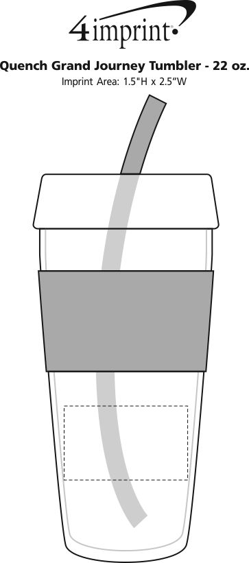 Imprint Area of Quench Grand Journey Tumbler - 22 oz.