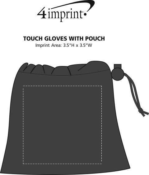 Imprint Area of Touch Gloves with Pouch