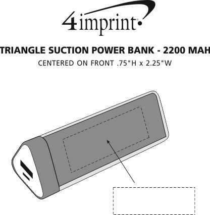 Imprint Area of Triangle Suction Power Bank