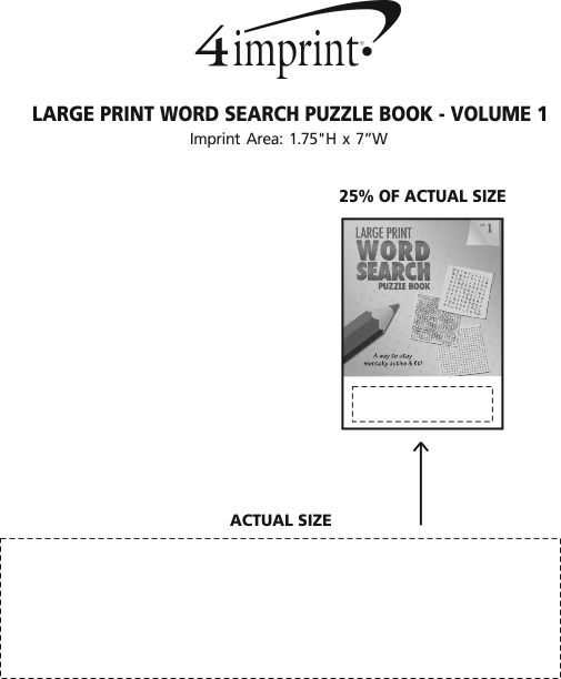 Imprint Area of Large Print Word Search Puzzle Book - Volume 1