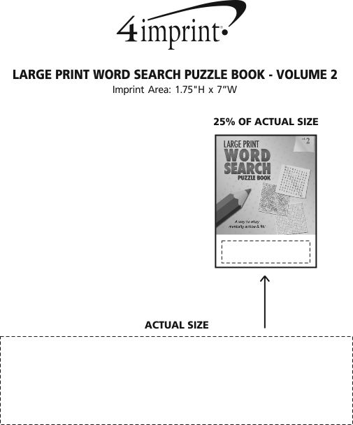 Imprint Area of Large Print Word Search Puzzle Book - Volume 2