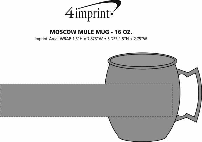 Imprint Area of Moscow Mule Mug - 16 oz.