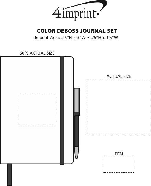 Imprint Area of Color Deboss Journal Set