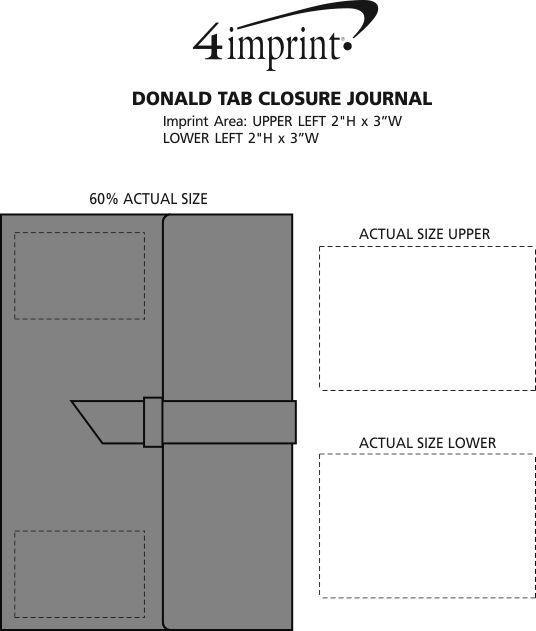 Imprint Area of Donald Tab Closure Journal