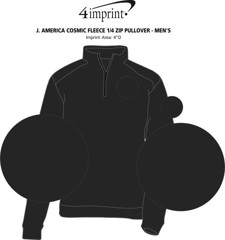 Imprint Area of J. America Cosmic Fleece 1/4-Zip Pullover - Men's