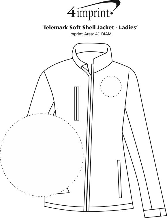 Imprint Area of Telemark Soft Shell Jacket - Ladies'
