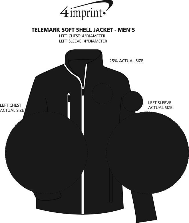 Imprint Area of Telemark Soft Shell Jacket - Men's
