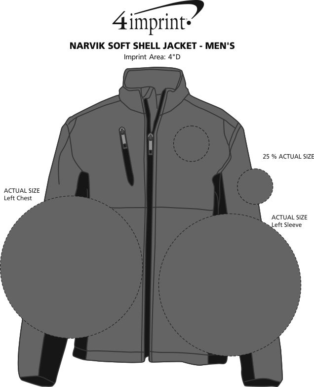 Imprint Area of Narvik Soft Shell Jacket - Men's