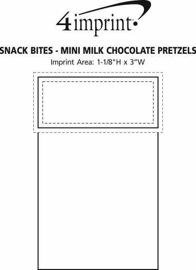 Imprint Area of Snack Bites - Mini Milk Chocolate Pretzels