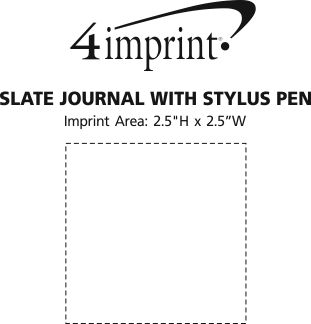 Imprint Area of Slate Journal with Stylus Pen