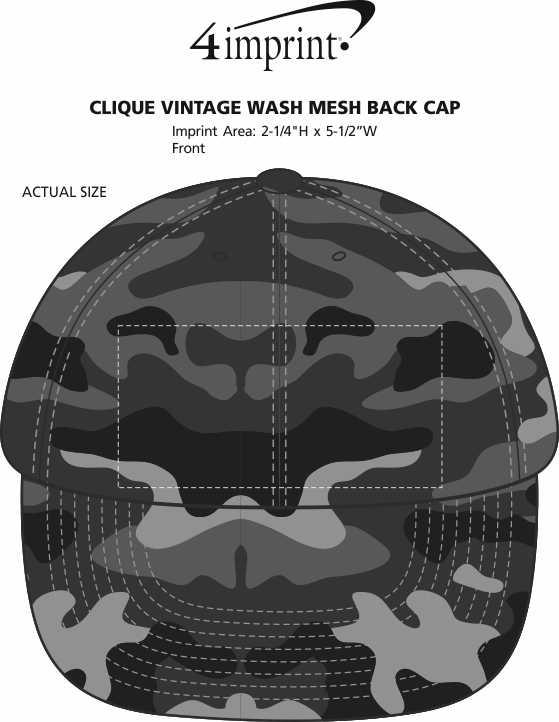 Imprint Area of Twill Flexfit Cap - Camo