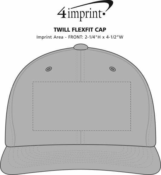 Imprint Area of Twill Flexfit Cap