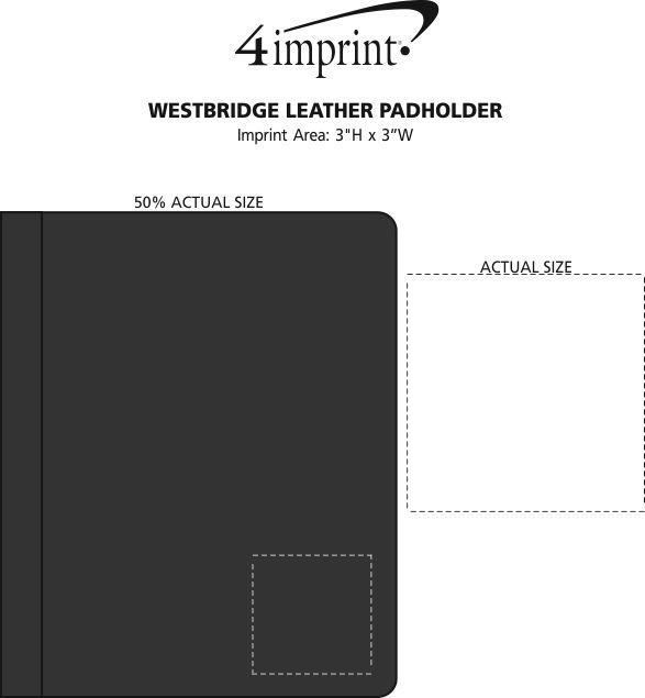 Imprint Area of Westbridge Leather Padholder