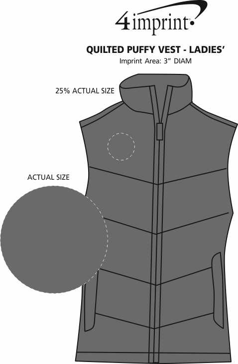 Imprint Area of Quilted Puffy Vest - Ladies'