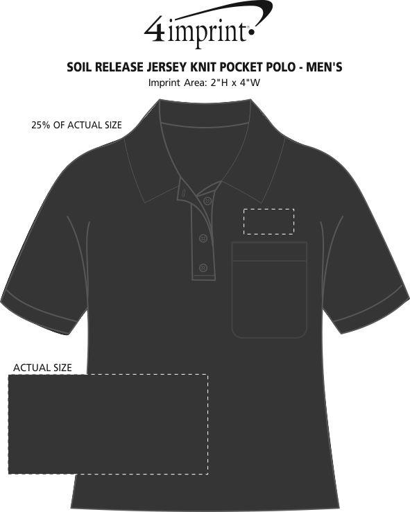Imprint Area of Soil Release Jersey Knit Pocket Polo - Men's