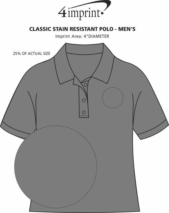 Imprint Area of Classic Stain Resistant Polo - Men's